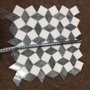 Crystal White and Gray Marble 3D Design Mosaic for Home Decoration pictures & photos