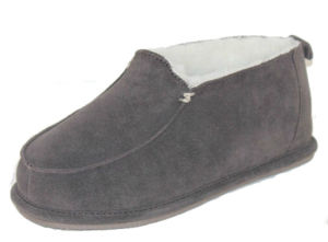 Sheepskin Slipper for Women and Girls MB30021m Grey.