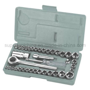 "Cheap 40 PCS 1/4"" and 3/8"" Dr. DIY Socket Wrench Set (120040) pictures & photos"