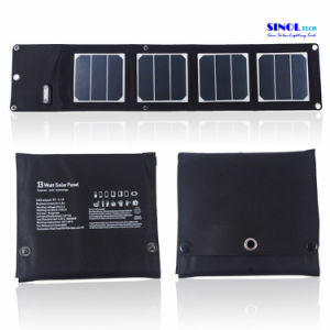 13W 5V Foldable USB Solar Charger 23.5% Highest Efficiency Compatible with Mobiles, 5V USB Devices (FSC-13A) pictures & photos