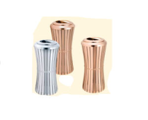 Stainless Steel Ground Dustbin (DK143) pictures & photos