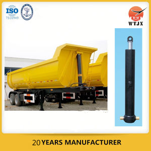 Four Stage Fe Type Hydraulic Cylinder for Heavy Dump Truck pictures & photos