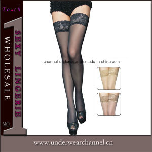Sexy Black Sheer Thigh Stocking (79276) pictures & photos
