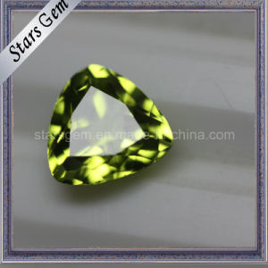 Beautiful Trilliant Cut Natural Semi-Precious Peridot Stones pictures & photos