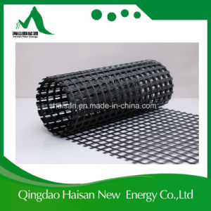 High Tensile 80/80 Kn/M Fiber Glass Geogrid Used in Railway pictures & photos
