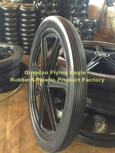 "24""X2"" Polyurethane Rubber Trolley Wheel pictures & photos"