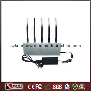 5 Band Desktop Cell Phone Jammer + UHF Audio Jammer pictures & photos