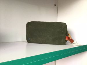 Custom Waxed Canvas Dopp Kit Bag Wholesale pictures & photos