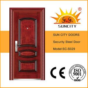 Heat Transfer Steel Security Door, High Quality Steel Door (SC-S029) pictures & photos
