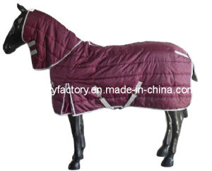 Winter Warm Filled Channel Quilt Heavy Horse Stable Blanket (SMR1917) pictures & photos