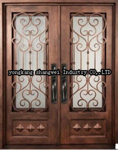 High Quality Elegant Security Exterior Panel Door pictures & photos