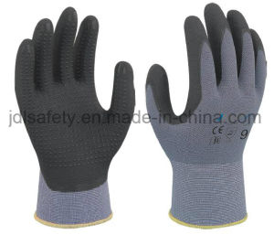 Nylon Safety Work Glove with Superfine Foam Nitrile Dipping (N1567) pictures & photos