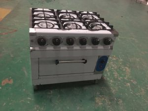 6-Burner Economic Gas Range with Gas Oven for Kitchen (HGR-6G) pictures & photos