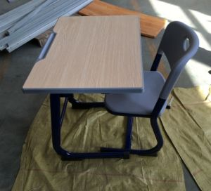 2017 New Design, School Desk and Chair, Wooden Furniture pictures & photos