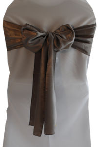 Beautiful High Quality Wedding Silver Satin Sashes pictures & photos