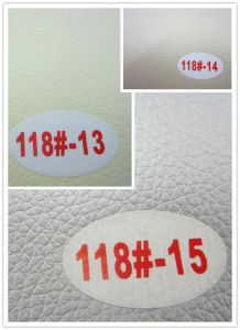 The Newest PVC Synthetic Leather (118#) pictures & photos