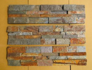 Exterior Wall Panels Rusty Quartz Slate Culture Stone (DXSC61)