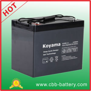 85ah 12V Deep Cycle Hybrid Gel Battery for Golf Cart pictures & photos