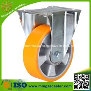 High Quality Zinc Plated Frame PU Wheel, Fixed Ball Caster pictures & photos
