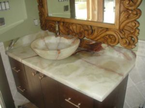 China Factory Onyx Washbasin Stone Basin Bathroom Basin pictures & photos