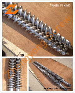 Conical Twin Screw and Barrel or PVC Plastic Conical Twin Screw Barrel pictures & photos