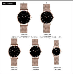 Fashion Stainless Steel Case Brand Couple Lover Nylon Mesh Strap Watches Nato Wrist Watch pictures & photos