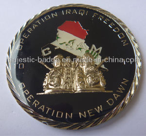 3D Gold Plating & Epoxy Army Coin pictures & photos