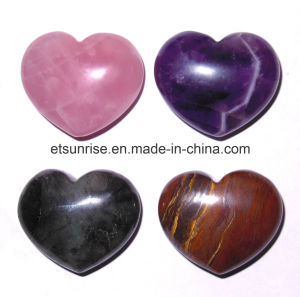 Semi Precious Stone Crystal Quartz Amethyst Heart Pendant pictures & photos