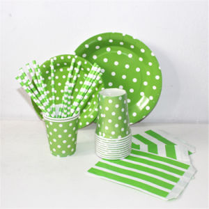 Striped Chevron DOT 100% Eco-Friendly Paper Straw pictures & photos
