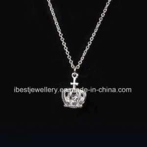 Imitation Jewelry- Crown Shaped Crystal Necklace pictures & photos
