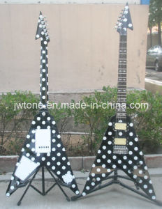 Polka DOT V Watertransfer Body Top Electric Guitar pictures & photos