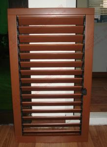 Woodgrain Aluminium Louvers Window with Adjustable Shutters (BHA-CW07) pictures & photos