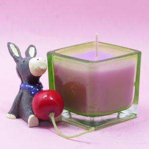 Scented Color Square Glass Jar Candles pictures & photos