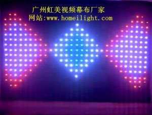 Flexible LED Vision Curtain P18cm 4X6 for Stage Backdrop pictures & photos