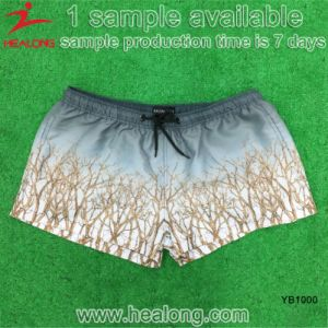Healong 100% Polyester Man Sublimation Beach Swim Shorts pictures & photos