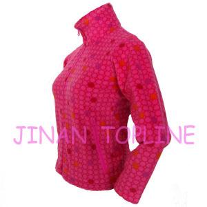 Junior Printed Fleece Micro Fleece Softshell Fabric Thermal Jacket pictures & photos
