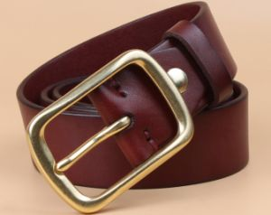 Top Layer Cattle Leather Belt pictures & photos