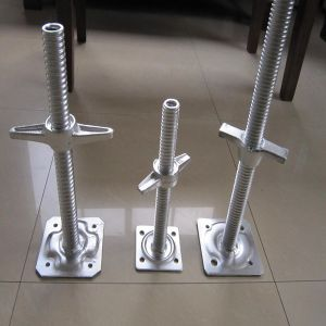 Scaffold Adjustable Solid/Hollow 600mm Jack Base Hr-002 pictures & photos