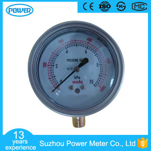 China Factory Price Vacuum Bellows Pressure Gauge 10kpa with Ce pictures & photos