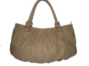 Beige Lambskin Leather Handbag (DS070901)