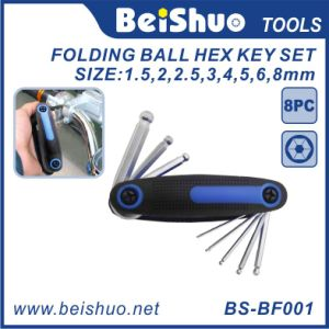 8-Pieces Metric Folding Ball Hex Key Set pictures & photos