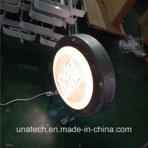 Round Outdoor/Indoor Bank Wall Mount Plastic Vacuum LED Light Box Signboard pictures & photos