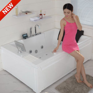 Sunrans Jacuzzi Bathtub Sanitary Ware Waterproof TV SPA for 2 Persons pictures & photos