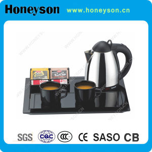 Hotel Supply Electric Kettle with Welcome Tray for Guestroom Use pictures & photos