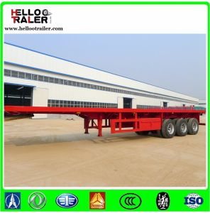 40t 3 Axle Flat Bed Trailer for Tractor Used in Africa pictures & photos