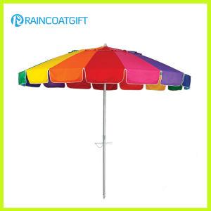 7ft Colorful Rainbow Outdoor Patio Beach Umbrella pictures & photos
