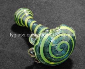 4inch Sparkle Spiral Hand Glass Spoon Glass Pipe pictures & photos