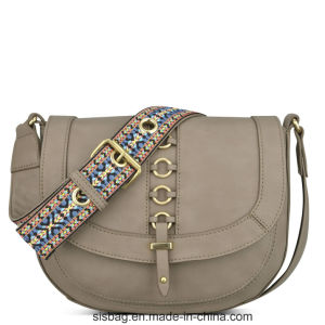 Colorful Straps Saddle Bag Sticthing Cross Body Bag pictures & photos