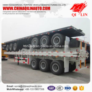 China Best Sale 30t - 60t 40FT Flatbed Semi Truck Trailer pictures & photos