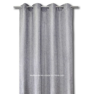 Metallic Silver Linen Like Curtain 1PC 8 Rings (C21001) pictures & photos